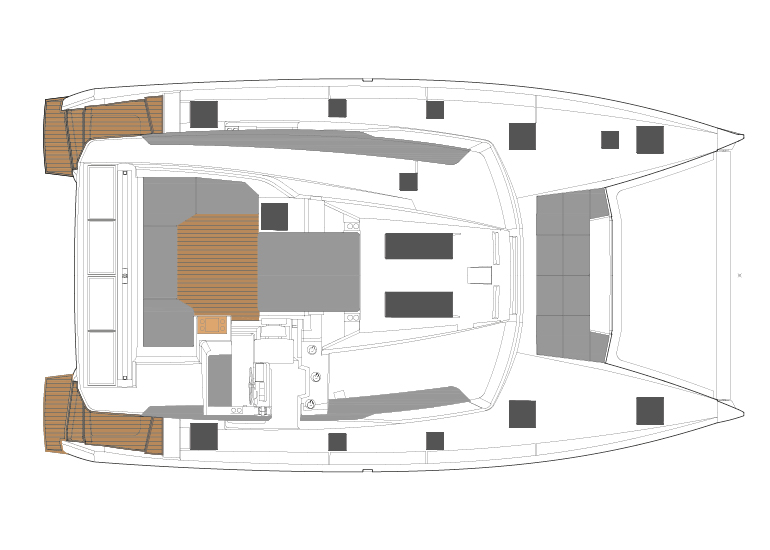 fountaina pajot elba 45, new 45 fountaine pajot sailing catamarans