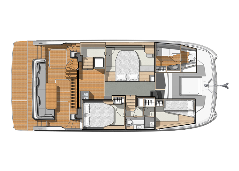 fountaine pajot my 40 cabin bunk beds